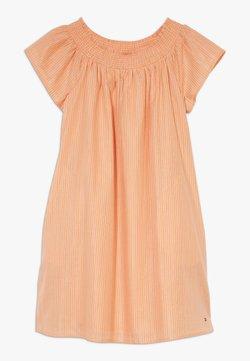 Tommy Hilfiger - STRIPE DRESS - Freizeitkleid - orange