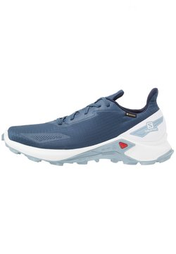 Salomon - ALPHACROSS BLAST GTX - Löparskor terräng - dark denim/white/ashley blue