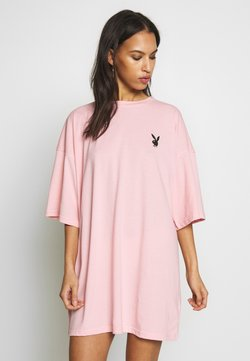 Missguided - PLAYBOY REPEAT SLOGAN - Jerseykleid - pink