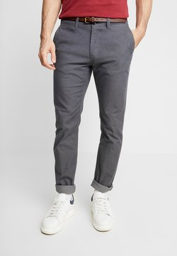 TOM TAILOR - WASHED STRUCTURE - Chinot - grey