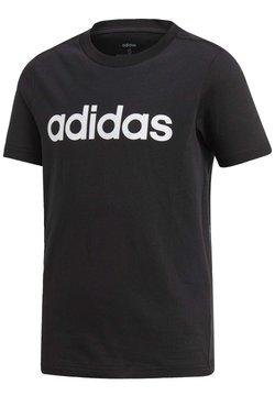 adidas Performance - ESSENTIALS LINEAR LOGO T-SHIRT - T-Shirt print - black