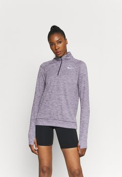 Nike Performance - PACER - Funktionsshirt - dark raisin/reflective silver