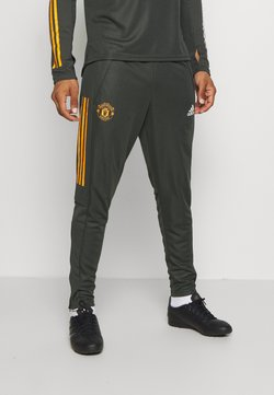 adidas Performance - MANCHESTER UNITED AEROREADY FOOTBALL PANTS - Klubtrøjer - olive