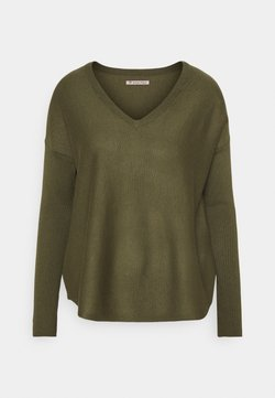 Anna Field - RELAXED V-NECK - Pullover - olive