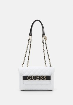 Guess - ILLY CONVERTIBE CROSSBODY FLAP - Umhängetasche - white