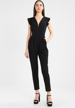 WAL G. - RUFFLE JUMPSUIT WITH BACK INSERT - Combinaison - black