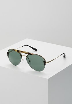 Prada - Lunettes de soleil - medium havana/pale gold/light green