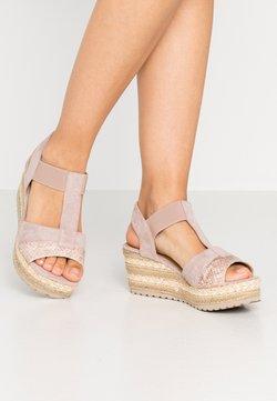 Refresh - Sandalen met plateauzool - nude