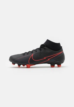 Nike Performance - MERCURIAL 7 ACADEMY FG/MG - Fußballschuh Nocken - black/dark smoke grey