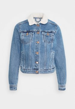 New Look - BORG JACKET MELISSA - Jeansjacke - mid blue