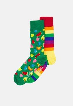 Happy Socks - FRUIT SOCK PRIDE STRIPE SOCK UNISEX 2 PACK - Socks - multi-coloured