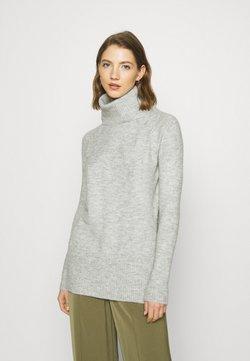 ONLY - ONLCILLE ROLLNECK - Stickad tröja - light grey melange