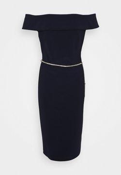 Lauren Ralph Lauren - BONDED DRESS TRIM - Etuikleid - lighthouse navy