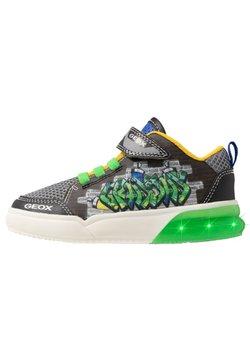 Geox - GRAYJAY BOY - Sneaker high - black/green