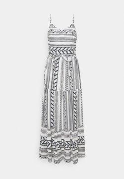 Vero Moda Tall - VMDICTHE SINGLET ANCLE DRESS - Maxikleid - snow white/dicthe/night sky