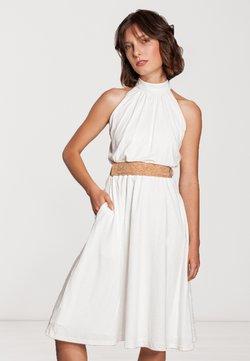 SinWeaver - MIT GÜRTEL  - Cocktailkleid/festliches Kleid - weiß