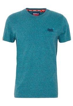 Superdry - VINTAGE EMBROIDERY TEE - T-shirt imprimé - pool blue/navy grit