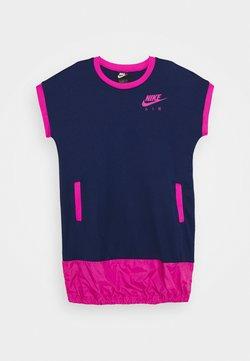 Nike Sportswear - AIR DRESS - Jerseykleid - blue void/active fuschia