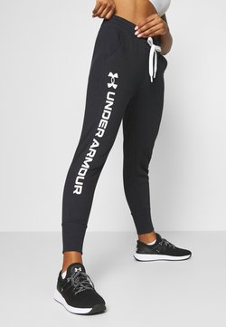 Under Armour - RIVAL SHINE JOGGER - Verryttelyhousut - black