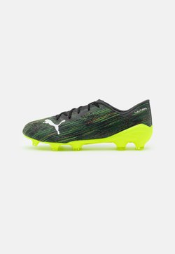 Puma - ULTRA 2.2 FG/AG - Moulded stud football boots - black/white/yellow alert