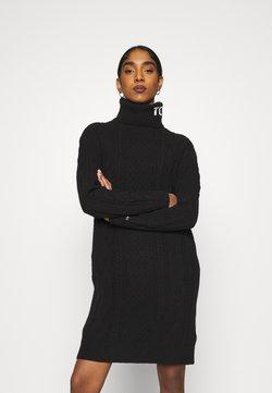 Tommy Jeans - TURTLE NECK DRESS - Vestido de punto - black