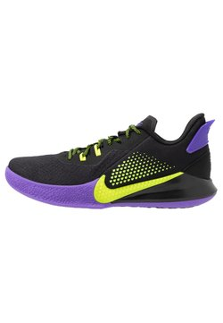 Nike Performance - MAMBA FURY - Basketball shoes - black/lemon/psychic purple