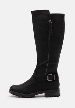 Dorothy Perkins - KAPTAIN ZIP CLEATED LONG BOOT - Stivali alti - black