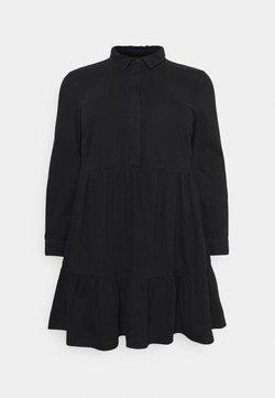 Vero Moda Curve - VMMARIA FRILL SHORT DRESS - Jeanskleid - black