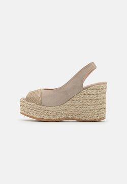 Gaimo - RENE - Platform sandals - natural