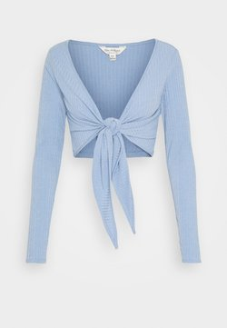 Miss Selfridge - BALLET WRAP - Gilet - blue