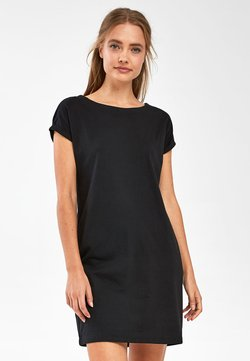 Next - BLACK JERSEY BOXY T-SHIRT DRESS - Freizeitkleid - black
