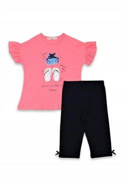 Cigit - T-SHIRT AND LEGGINGS SET  - Legging - neon pink