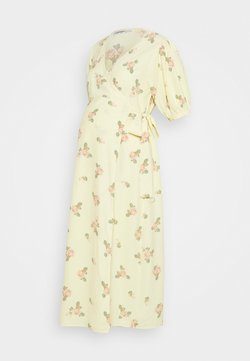 Glamorous Bloom - WRAP AROUND DRESSES WITH TIE DETAIL - Jerseykleid - yellow/pink rose