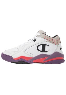 Champion - MID CUT SHOE ZONE MID 90'S - Basketballschuh - white/violet/fux/black