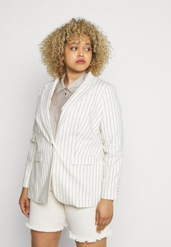 Vince Camuto Plus - STRIPE FRINGE TRIM - Short coat - white