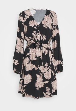 ONLY - ONLALMA LIFE DRESS - Vapaa-ajan mekko - black/vintage flower