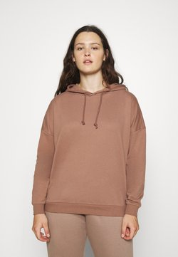 Vero Moda Curve - VMOCTAVIALS HOODIE CURVE - Sweatshirt - brownie