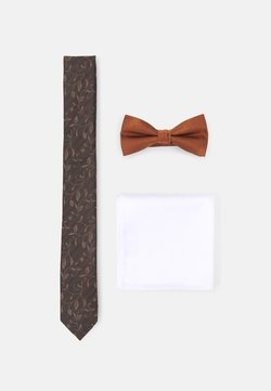 Jack & Jones - JACGOLDIE NECKTIE SET - Cravatta - black/bronze