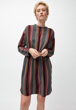 ARMEDANGELS - EDURNAA CLUSTERED STRIPES - Freizeitkleid - port wine/juniper green
