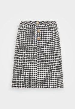 Missguided Tall - HOUNDSTOOTH SKIRT - Minirock - black