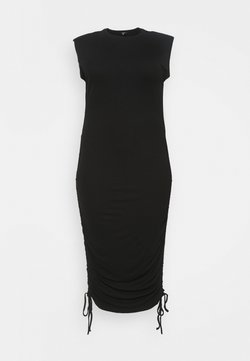 Missguided Plus - SHOULDER PAD RUCHED - Etuikleid - black