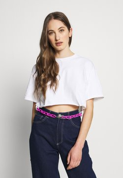 The Ragged Priest - SHORT SLEEVE TEE WITH CHAIN BELT - Printtipaita - white