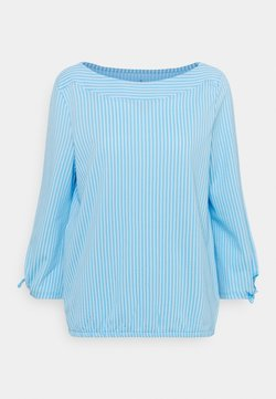 TOM TAILOR - VERTICAL STRIPE - Bluse - blue/white