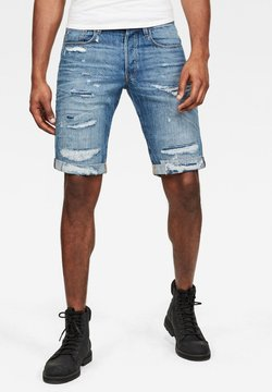 G-Star - 3301 - Jeans Shorts - faded ripped shore