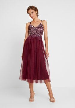 Lace & Beads - RIRI MIDI DRESS - Cocktail dress / Party dress - burgundy