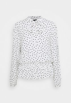 Marks & Spencer London - SPOT PEPLUM TOP - Langarmshirt - off-white