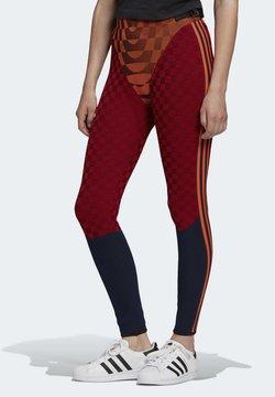 adidas Originals - PAOLINA RUSSO COLLAB SPORTS INSPIRED SLIM TIGHTS - Leggings - energy orange/black/scarlet