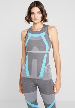 adidas Performance - PRIMEKNIT RUNNING TANK TOP - Funktionsshirt - grey five/grey/blue