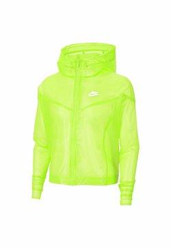 Nike Sportswear - TRANSPARENT - Giubbotto Bomber - volt/white/white