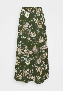 ONLY - ONLNOVA LUX LONG SKIRT  - Maxirock - ponderosa pine/blossom green